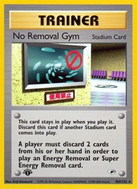 No Removal Gym, Pokemon, Gym Heroes