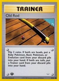 Old Rod, Pokemon, Neo Revelation