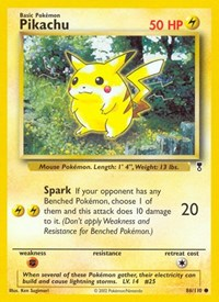 Pikachu, Pokemon, Legendary Collection
