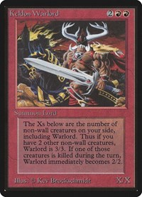 Keldon Warlord, Magic: The Gathering, Beta Edition