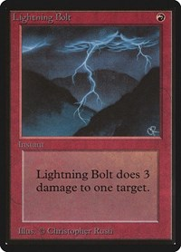 Lightning Bolt, Magic: The Gathering, Beta Edition