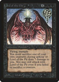 Lord of the Pit, Magic: The Gathering, Beta Edition