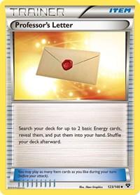 Professor's Letter, Pokemon, XY Base Set
