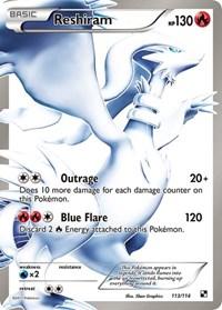 Reshiram (113 Full Art), Pokemon, Black and White