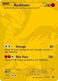 Reshiram (114 Full Art Secret Rare), Pokemon, Legendary Treasures
