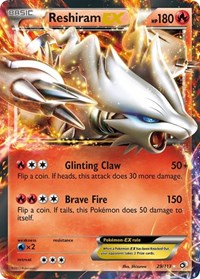 Reshiram EX, Pokemon, Legendary Treasures