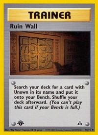 Ruin Wall, Pokemon, Neo Discovery