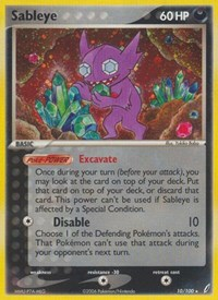 Sableye, Pokemon, Crystal Guardians