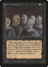 Scathe Zombies, Magic: The Gathering, Beta Edition