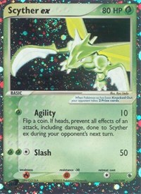 Scyther ex, Pokemon, Ruby and Sapphire