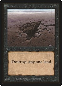 Sinkhole, Magic: The Gathering, Beta Edition