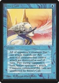 Siren's Call, Magic: The Gathering, Beta Edition