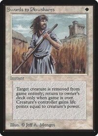 Swords to Plowshares, Magic, Beta Edition