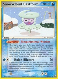 Snow-cloud Castform, Pokemon, Delta Species