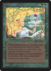 Verduran Enchantress, Magic: The Gathering, Beta Edition