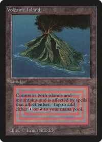 Volcanic Island, Magic: The Gathering, Beta Edition