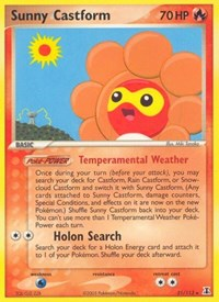 Sunny Castform, Pokemon, Delta Species