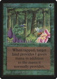 Wild Growth, Magic: The Gathering, Beta Edition