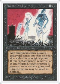 Animate Dead, Magic: The Gathering, Unlimited Edition
