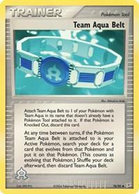 Team Aqua Belt, Pokemon, Team Magma vs Team Aqua