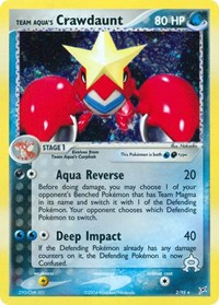 Team Aqua's Crawdaunt (2), Pokemon, Team Magma vs Team Aqua