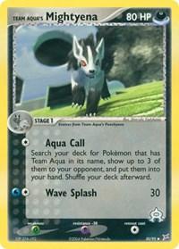 Team Aqua's Mightyena (30), Pokemon, Team Magma vs Team Aqua