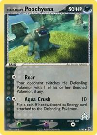 Team Aqua's Poochyena (55), Pokemon, Team Magma vs Team Aqua