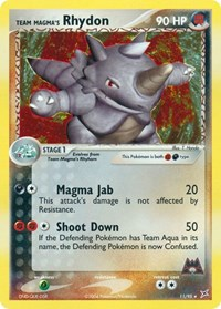Team Magma's Rhydon (11), Pokemon, Team Magma vs Team Aqua