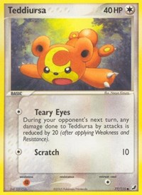 Teddiursa, Pokemon, Unseen Forces