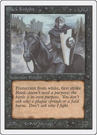 Black Knight, Magic, Unlimited Edition