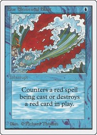 Blue Elemental Blast, Magic: The Gathering, Unlimited Edition