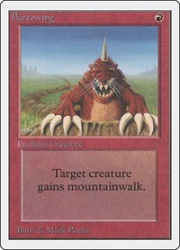Burrowing, Magic: The Gathering, Unlimited Edition