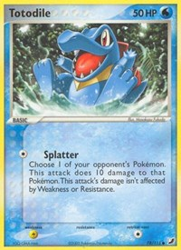Totodile, Pokemon, Unseen Forces