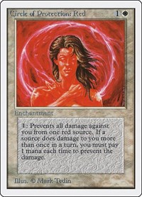 Circle of Protection: Red, Magic: The Gathering, Unlimited Edition