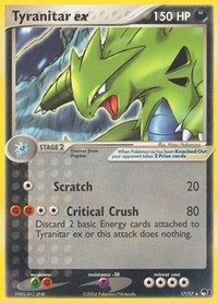 Tyranitar ex (Holo), Pokemon, POP Series 1