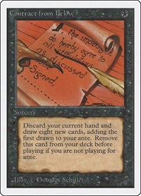 Contract from Below, Magic: The Gathering, Unlimited Edition