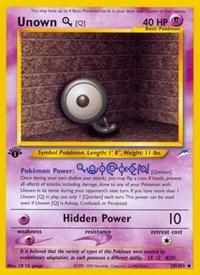 Unown [Q], Pokemon, Neo Destiny