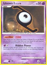 Unown [Z], Pokemon, Secret Wonders