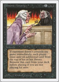 Demonic Attorney, Magic, Unlimited Edition