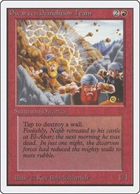 Dwarven Demolition Team, Magic: The Gathering, Unlimited Edition