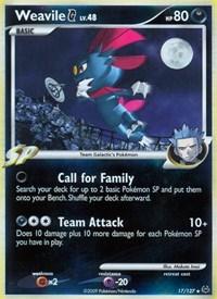 Weavile G, Pokemon, Platinum
