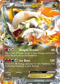 White Kyurem EX, Pokemon, Legendary Treasures
