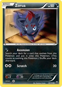 Zorua (69), Pokemon, Dark Explorers