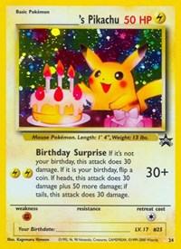 Pikachu (Birthday), Pokemon, WoTC Promo
