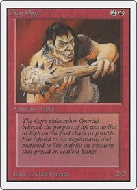 Gray Ogre, Magic: The Gathering, Unlimited Edition