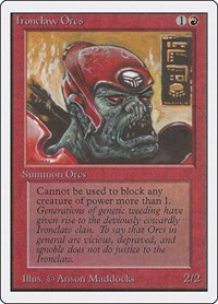 Ironclaw Orcs, Magic: The Gathering, Unlimited Edition