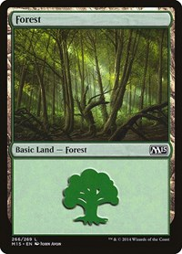 Forest (266), Magic: The Gathering, Magic 2015 (M15)