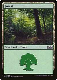 Forest (267), Magic: The Gathering, Magic 2015 (M15)