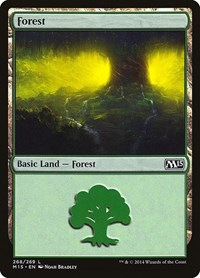 Forest (268), Magic: The Gathering, Magic 2015 (M15)