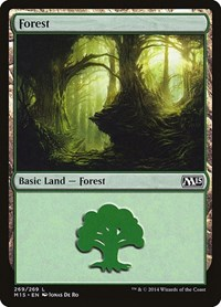 Forest (269), Magic: The Gathering, Magic 2015 (M15)